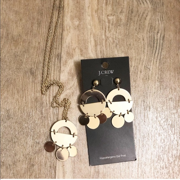 J. Crew Factory Jewelry - Jcrew long necklace and earring set